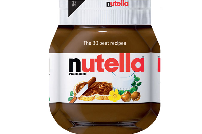 The Nutella Cookbook, shaped like the actual jar