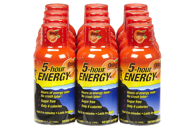 5-hour-energy bottles