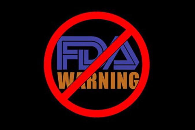 The FDA does not require warning labels for all caffeinated products, but this may change.